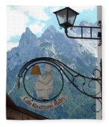 Germany - Cafe Sign Fleece Blanket