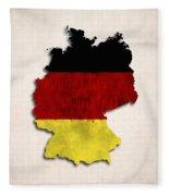 Germany Map Art With Flag Design Fleece Blanket