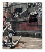 Gerome: Gladiators, 1874 Fleece Blanket