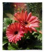 Gerberas In Coral Pink 2 Fleece Blanket