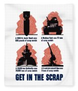 Get In The Scrap - Ww2 Fleece Blanket