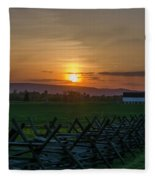 Gettysburg At Sunset Fleece Blanket