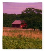 Gettysburg Barn Fleece Blanket