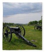 Gettysburg Battlefield Cannons Fleece Blanket