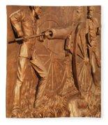Gettysburg Bronze Relief Fleece Blanket