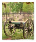 Gettysburg Cannon Cemetery Hill Fleece Blanket