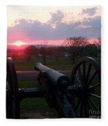 Gettysburg Cannon Fleece Blanket