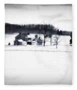 Gettysburg Farm In Winter Fleece Blanket