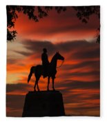 Gettysburg - Gen. Meade At First Light Fleece Blanket