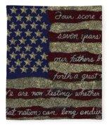 Gettysburg Homage Flag Fleece Blanket