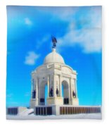Gettysburg Memorial In Winter Fleece Blanket