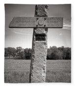 Gettysburg National Park 142nd Pennsylvania Infantry Monument Fleece Blanket