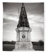Gettysburg National Park 42nd New York Infantry Monument Fleece Blanket