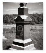 Gettysburg National Park 6th Wisconsin Iron Brigade Monument Fleece Blanket