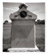 Gettysburg National Park 8th Illinois Cavalry Monument Fleece Blanket
