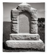 Gettysburg National Park Third West Virginia Cavalry Monument Fleece Blanket