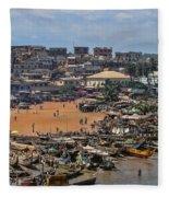 Ghana Africa Fleece Blanket