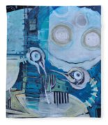 Ghost Birds At Play Fleece Blanket