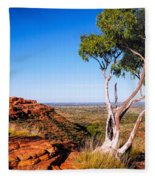 Ghost Gum On Kings Canyon - Northern Territory, Australia Fleece Blanket