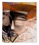 Ghost In The Carriage House Fleece Blanket