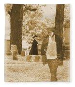 Ghost In The Graveyard Fleece Blanket
