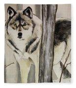 Ghost In The Woods Fleece Blanket