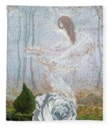 Ghost Of A Rose Fleece Blanket