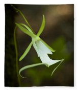 Ghost Orchid  Fleece Blanket