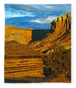 Ghost Ranch At Sunset, Abiquiu, New Fleece Blanket