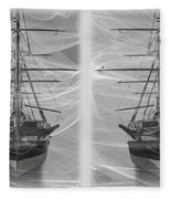 Ghost Ship - Gently Cross Your Eyes And Focus On The Middle Image Fleece Blanket