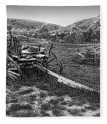 Ghost Wagons Of Bannack Montana Fleece Blanket