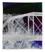 Ghostly Bridge Fleece Blanket