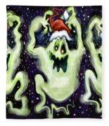Ghostly Christmas Trio Fleece Blanket