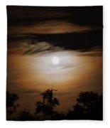 Ghosts Around The Moon Fleece Blanket