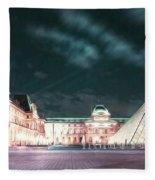 Ghosts Of The Louvre Museum 2  Art Fleece Blanket
