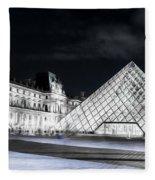 Ghosts Of The Louvre Museum  Art Fleece Blanket