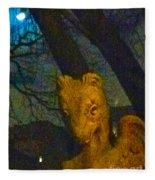 Ghoul And Full Moon 1 Fleece Blanket