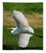 Giant Egret Grace Fleece Blanket