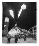 Giant Flamethrowing Praying Mantis Fleece Blanket