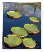 Giant Lily Pads Fleece Blanket