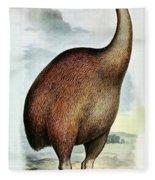 Giant Moa Dinornis Ingens, Cenozoic Bird Fleece Blanket