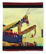 Giant Preying Mantis 1 Fleece Blanket