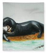 Giant River Otter Fleece Blanket
