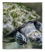 Giant River Turtle Fleece Blanket