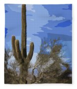 Giant Saguaro Fleece Blanket