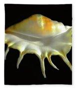Giant Spider Conch Seashell Lambis Truncata Fleece Blanket