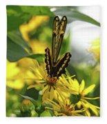 Giant Swallowtail Wings Folded Fleece Blanket