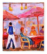 Gibbys Cafe Fleece Blanket