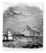 Gibraltar, 1843 Fleece Blanket