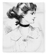 Gibson: Gibson Girl, 1905 Fleece Blanket